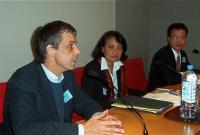 Conferenza su: Il Laos e i diritti dell'uomo, al palazzo del Lussemburgo. Olivier Dupuis - Vanida S. Thephsouvanh - Rev. Naw-Karl Mua