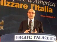 Secondo Congresso di Radicali Italiani. Alessandro Litta Modignani (consigliere radicale della Regione Lombardia).