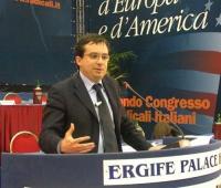Secondo Congresso dei Radicali Italiani. Alla tribuna, Marco Beltrandi.