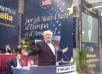 Secondo Congresso dei Radicali Italiani. Alla tribuna: Marco Pannella.