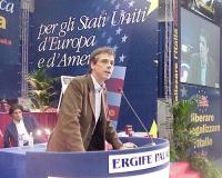 Secondo Congresso dei Radicali Italiani. Alla tribuna: Olivier Dupuis.