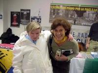 A destra: Mirella Parachini, al Secondo Congresso dei Radicali Italiani.