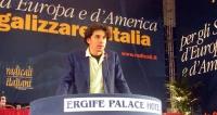 Marco Cappato alla tribuna del Secondo Congresso dei Radicali Italiani.