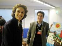 Mario Staderini e Matteo Mecacci nel foyer del Secondo Congresso dei Radicali Italiani.