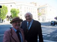 Il maestro della Loffredo Jazz Band e Marco Pannella.
