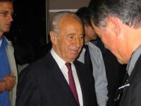 Al centro: Shimon Peres.