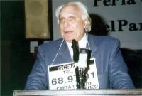 Marco Pannella, nel corso di una manifestazione al Maschio Angioino per la campagna di iscrizioni al PR.