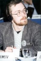 Nikolaj Khramov, a un congresso radicale.