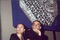 Diletta D'Andrea e Vittorio Gasmann, a una manifestazione al teatro Adriano per la campagna di iscrizioni al PR.