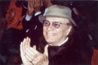 Giorgio Albertazzi, in occasione di una serata radicale al teatro Parioli, per la campagna di iscrizioni al PR.