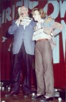 Marco Pannella ed Emma Bonino, in una manifestazione al teatro Adriano per la campagna di iscrizioni al PR.