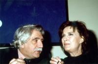Pietro Carriglio e Ilaria Occhini, a una manifestazione al teatro Adriano per la campagna di iscrizioni al PR.