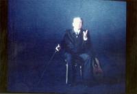 Domenico Modugno, ripreso da un programma televisivo.
