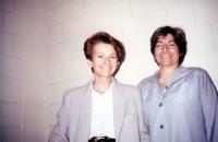 Emma Bonino in visita nel carcere americano dove è detenuta Silvia Baraldini.