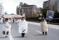 "Manifestazione per gli ""Etats-Unis d'Europe"", e ""pour une politique europeenne contre l'extermination per la faim""."