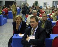 Emma Bonino, Roberto Cicciomessere (in secondo piano) e Luca Tentellini (in primo piano) al Secondo Congresso dei Radicali Italiani.