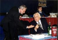 Danilo Quinto e Marco Pannella al Secondo Congresso dei Radicali Italiani.