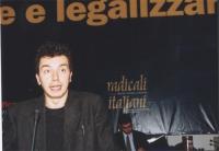 Michele De Lucia al Secondo Congresso dei Radicali Italiani.