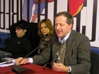 Secondo Congresso dell'Associazione Luca Coscioni, nell'ex-manicomio di Santa Maria della Pietà. Al tavolo: Luca Coscioni, sua moglie, Paolo Pietrosan