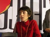 Claudia Cominetti (ex pallavolista, malata di sclerosi laterale amiotrofica) al Secondo Congresso dell'Associazione Luca Coscioni, nell'ex-manicomio d