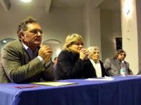 Antonello Marzano, Rita Bernardini, madre di Coscioni, John Fischetti nel corso del Secondo Congresso dell'Associazione Luca Coscioni, nell'ex-manicom