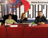 Secondo Congresso dell'Associazione Luca Coscioni, nell'ex-manicomio di Santa Maria della Pietà. Al tavolo: Luca Coscioni, sua moglie, Marco Perduria.