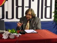 John Fischetti interviene al Secondo Congresso dell'Associazione Luca Coscioni, nell'ex-manicomio di Santa Maria della Pietà.