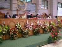Conferenza intergovernativa di Sanaa, sulla democrazia, i diritti umani, e il ruolo della corte penale internazionale. Tavolo di presidenza, con Emma