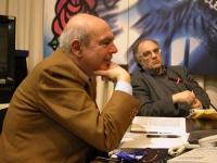 """Gianfranco Spadaccia (in primo piano) e Valter Vecellio, partecipano alla presentazione del nuovo numero della rivista """"Diritto e libertà"""" (""""Medio Ori"""