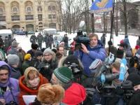 Manifestazione a sostegno dell'appello radicale per un'amministrazione dell'ONU in Cecenia. Altre digitali.