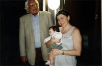 Marco Pannella, Francesca Mambro, e Arianna, figlia di Francesca.