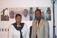 M. B. Niang (Ministro per i Diritti dell'Uomo presso la Presidenza della Repubblica del Senegal) e Demba Traore (deputato del Mali), in occasione dell
