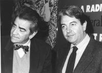 Bruno Zevi con Masssimo Teodori. Primi piani stretti (BN)