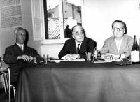 Leopoldo Piccardi, Francesco Libonati e Paolo Serini, presso la sede radicale in via della Colonna Antonina.
