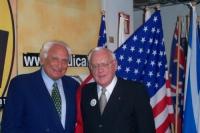 Marco Pannella e George Ryan (già governatore dell'Illinois), all'interno della sede di Torre Argentina. Altre digitali con Ryan (anche con Valter Vel