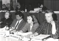Modugno, Negri, Anna Niedzwiescka, Roche. (BN) durante un consiglio federale