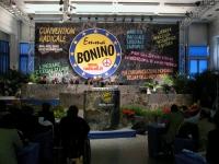 Convenzione dei Radicali all'hotel Ergife. Vista del banner di fondo, del tavolo di presidenza, della tribuna con Emma Bonino, e di un settore della p