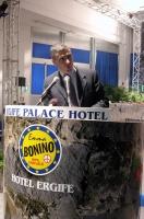 Alfonso Pecoraro Scanio alla tribuna della Convenzione dei Radicali all'hotel Ergife.