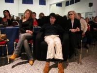 Luca Coscioni con la moglie e la madre alla Convenzione dei Radicali all'hotel Ergife.