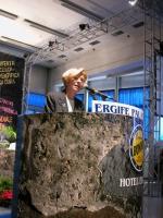 Emma Bonino alla tribuna della Convenzione dei Radicali all'hotel Ergife.