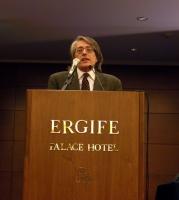 Geppi Rippa alla tribuna della Convenzione dei Radicali all'hotel Ergife.
