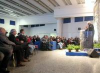 Marco Pannella, dalla tribuna, si rivolge a Giuliano Amato, seduto in prima fila, nel corso della Convenzione dei Radicali Italiani.