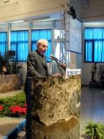 Giuliano Amato alla tribuna della Convenzione dei Radicali all'hotel Ergife.