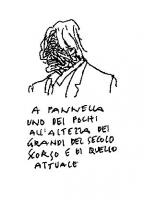"""VIGNETTA Didascalia: """"A Pannella uno dei pochi all'altezza dei grandi del secolo scorso e di quello attuale"""". Vignetta di Vincino, pubblicata su """"Il F"""