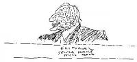 """VIGNETTA Marco Pannella. Didascalia: """"Editoriale senza parole senza acqua"""". Vignetta di Vincino per """"Il Foglio""""."""