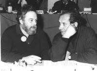 Salvatore Samperi e Tinto Brass (BN entrami registi cinematografici ed iscritti al PR