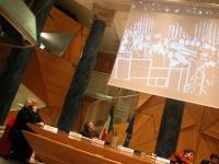 """Convegno su: """"Caso Italia e monitoraggio delle democrazie"""", organizzato dai radicali. Marco Pannella e  Robert Entman (Dipartimento di comunicazione,"""