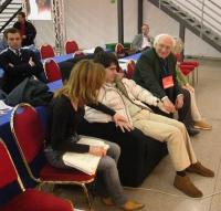 6° Congresso italiano del PR. Marco Pannella, Luca Coscioni e sua moglie.