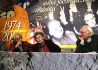 6° Congresso del PR. Emma Bonino, Miriam Mafai e Marco Pannella nel corso della celebrazione del trentennale della vittoria del referendum sul divorzi