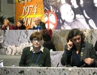 6° Congresso del PR. Franca Valeri (in prima fila, a sinistra) interviene alla celebrazione del trentennale della vittoria del referendum sul divorzio